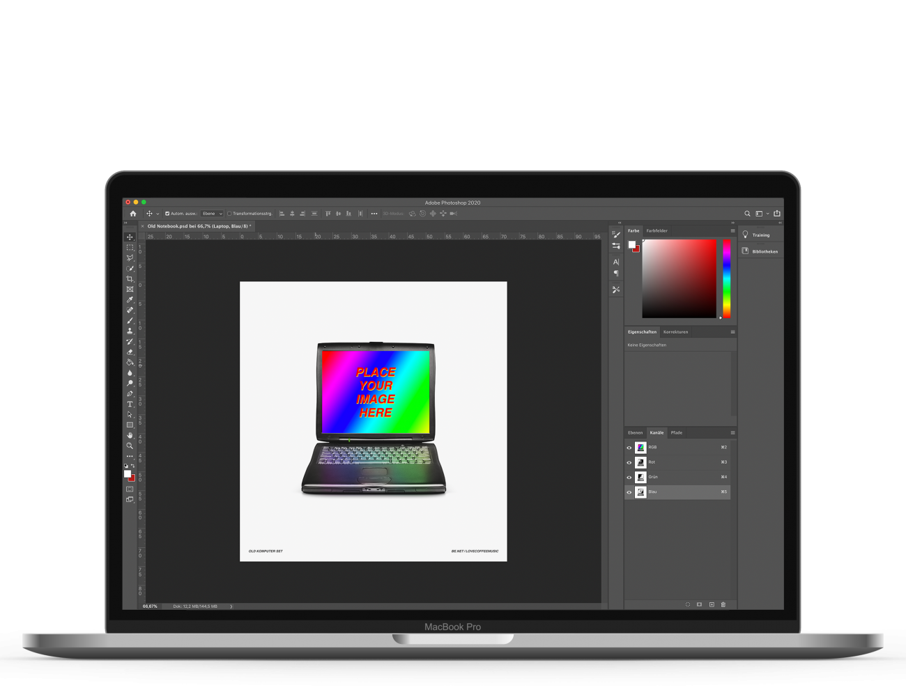 Leistung: Mockup Macbook Photoshop
